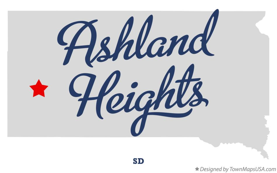 Map of Ashland Heights South Dakota SD