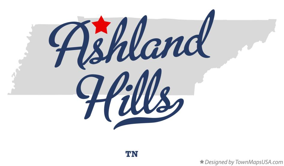 Map of Ashland Hills Tennessee TN