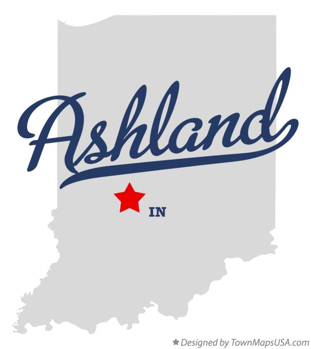 Map of Ashland Indiana IN