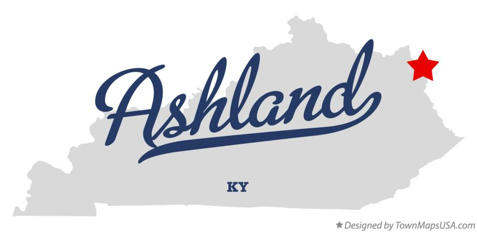 Map of Ashland Kentucky KY