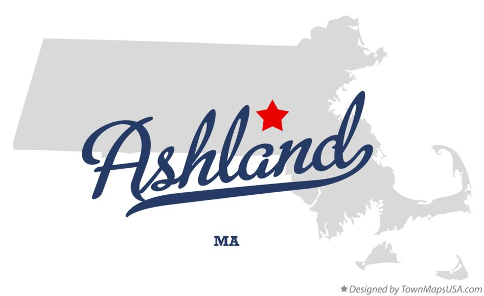 Map of Ashland Massachusetts MA