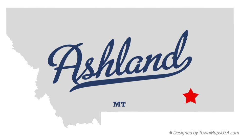 Ashland Montana Map.Map Of Ashland Mt Montana