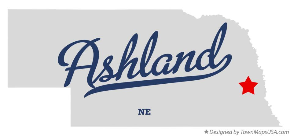 Map of Ashland Nebraska NE
