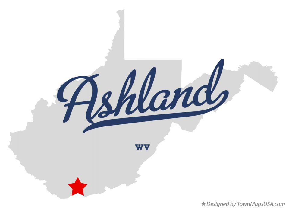 Map of Ashland West Virginia WV