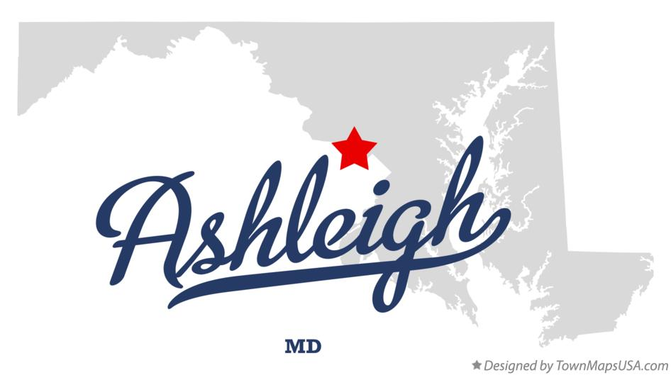 Map of Ashleigh Maryland MD