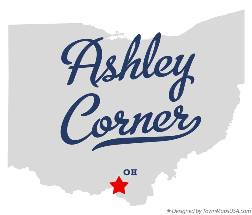 Map of Ashley Corner Ohio OH