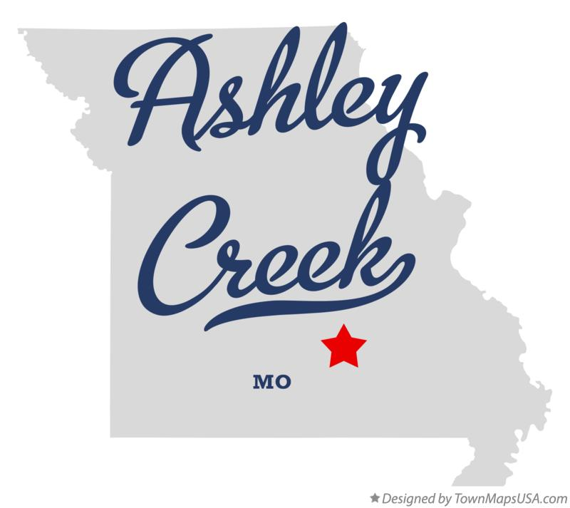 Map of Ashley Creek Missouri MO