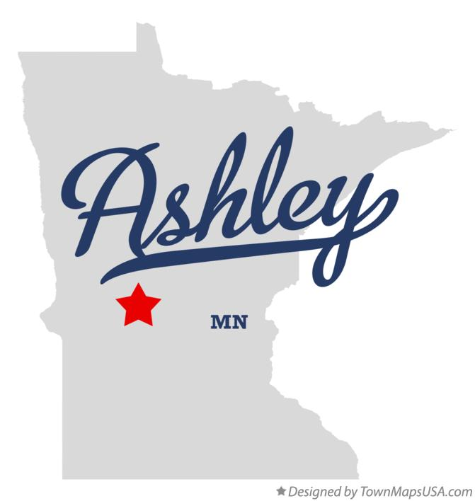 Map of Ashley Minnesota MN