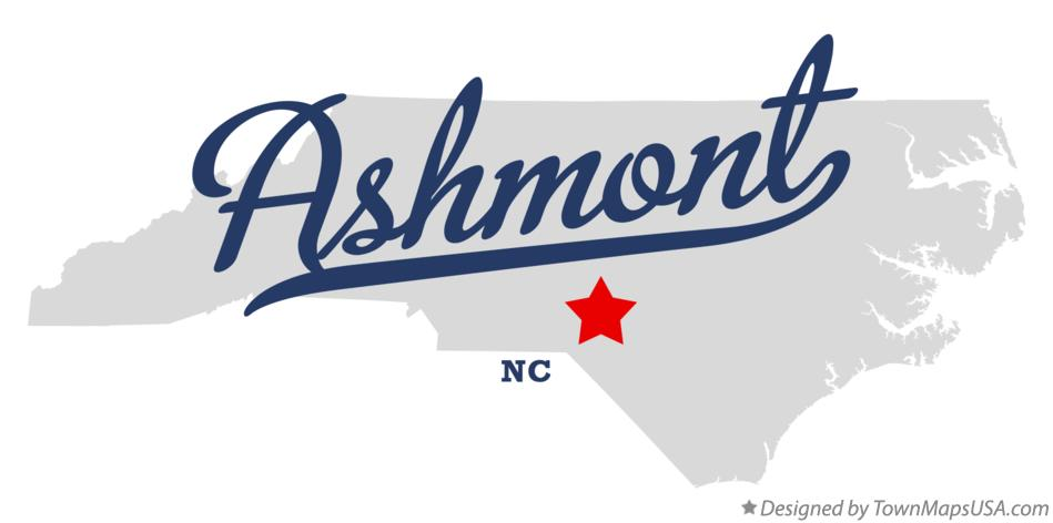 Map of Ashmont North Carolina NC