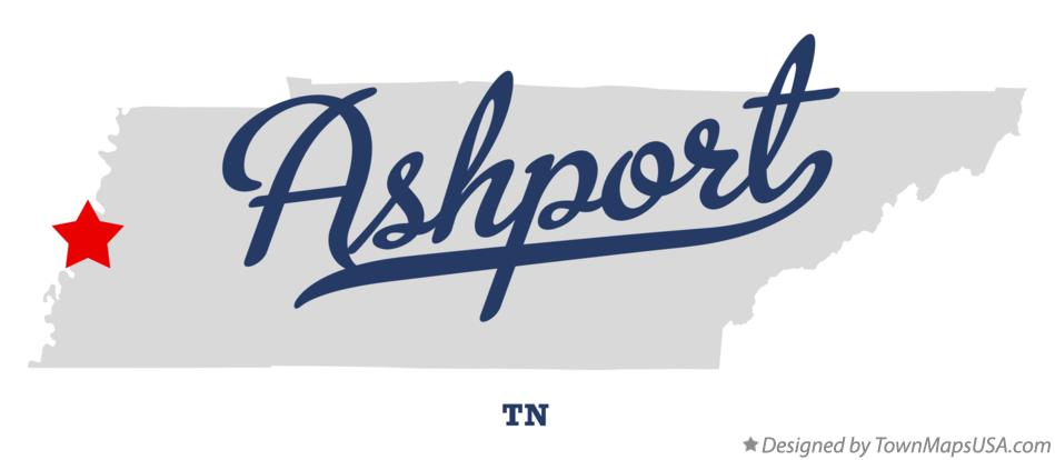 Map of Ashport Tennessee TN