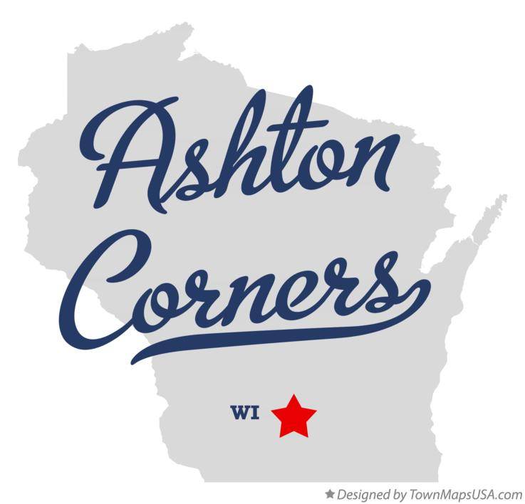 Map of Ashton Corners Wisconsin WI