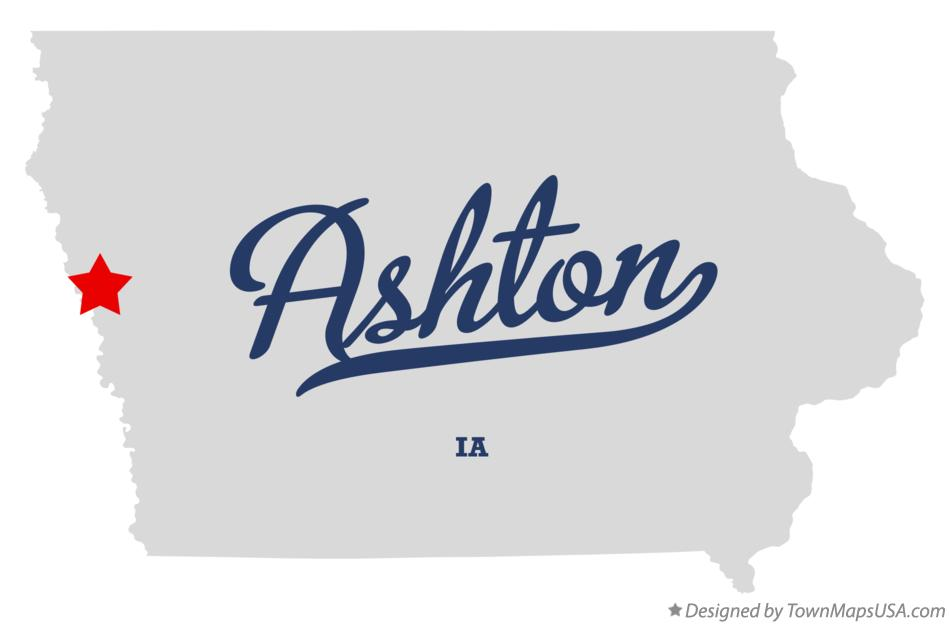 Map of Ashton Iowa IA