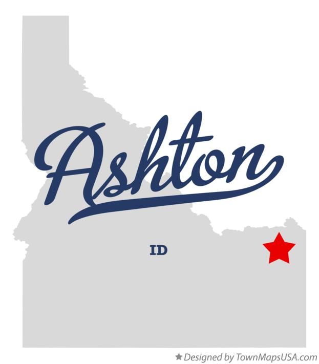 Map of Ashton Idaho ID