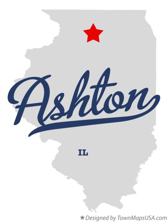 Map of Ashton Illinois IL