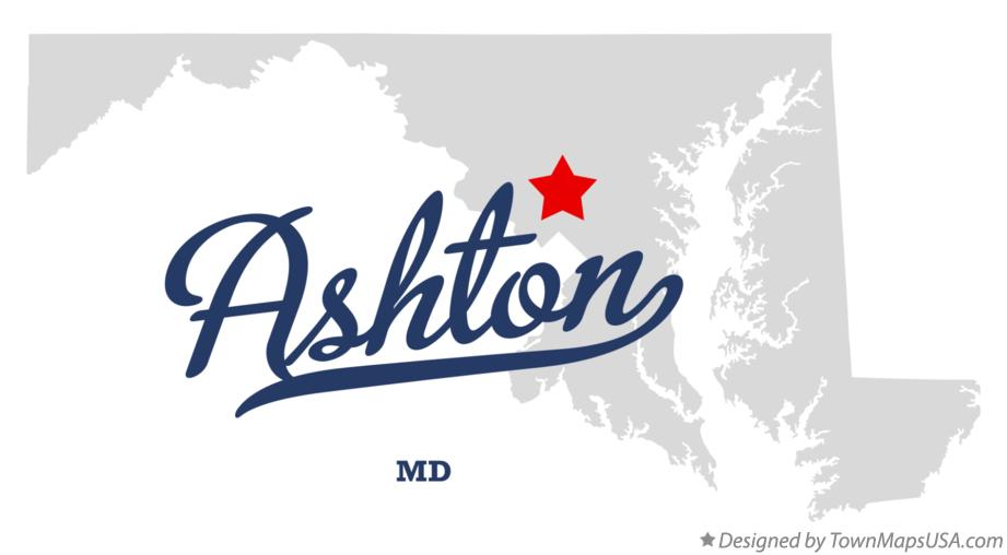 Map of Ashton Maryland MD