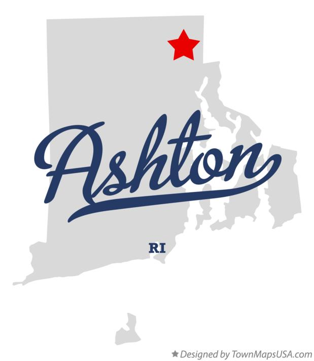 Map of Ashton Rhode Island RI