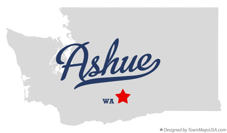 Map of Ashue Washington WA