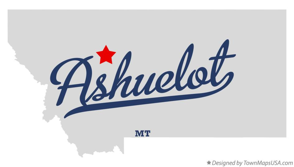 Map of Ashuelot Montana MT