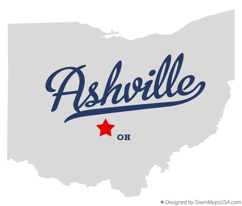 Map of Ashville Ohio OH