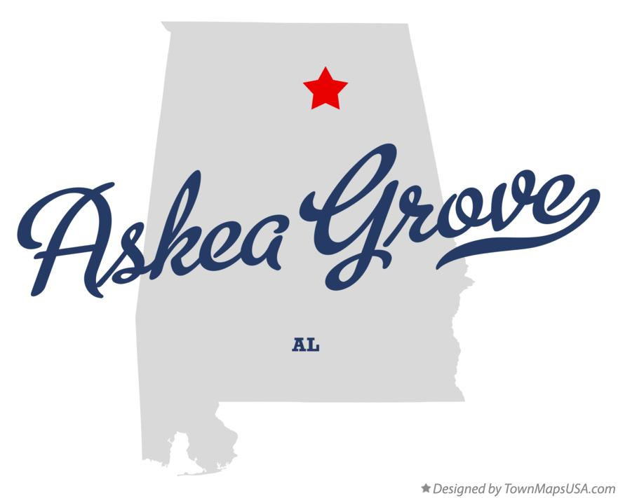 Map of Askea Grove Alabama AL