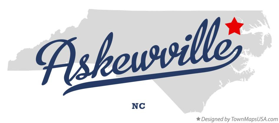 Map of Askewville North Carolina NC