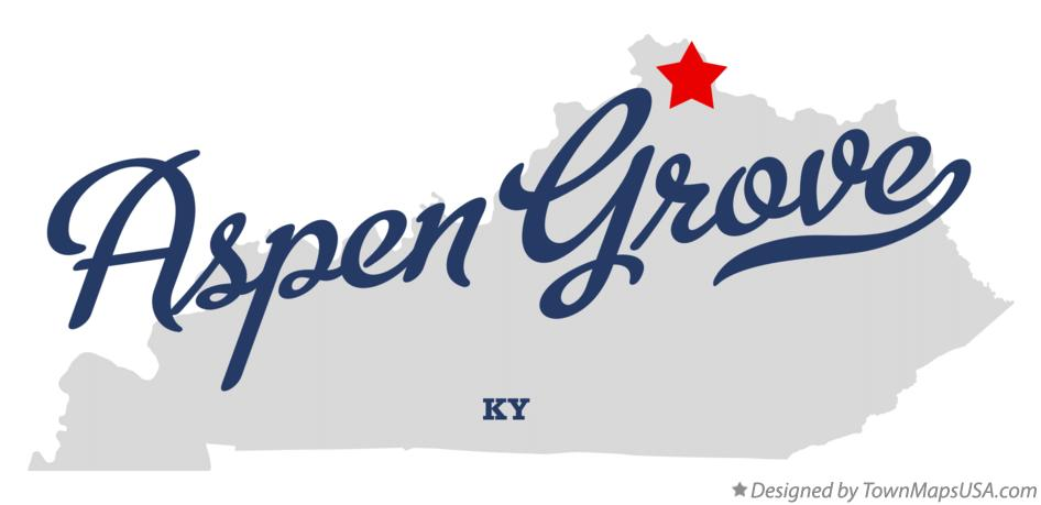 Map of Aspen Grove Kentucky KY