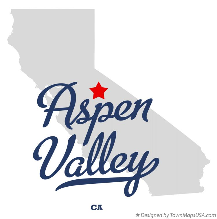 Map of Aspen Valley California CA