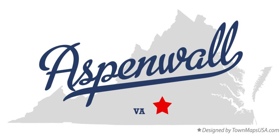Map of Aspenwall Virginia VA