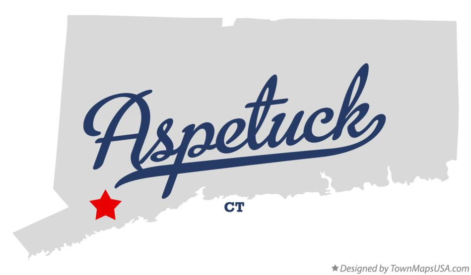 Map of Aspetuck Connecticut CT