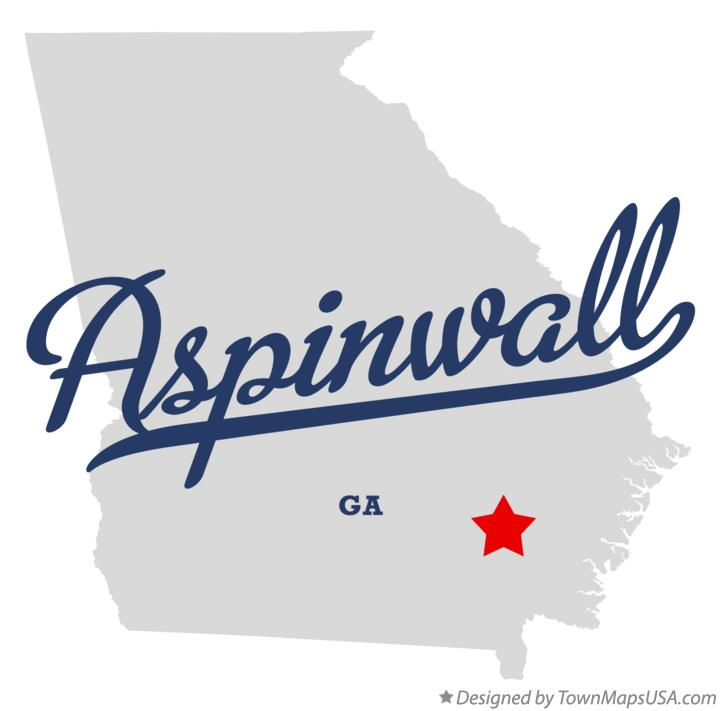 Map of Aspinwall Georgia GA
