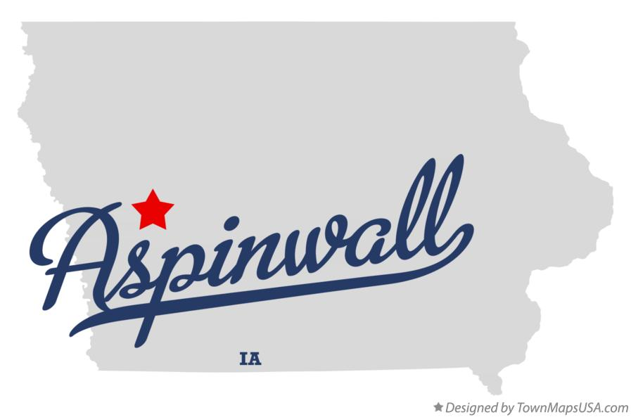 Map of Aspinwall Iowa IA
