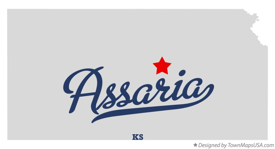 Map of Assaria Kansas KS