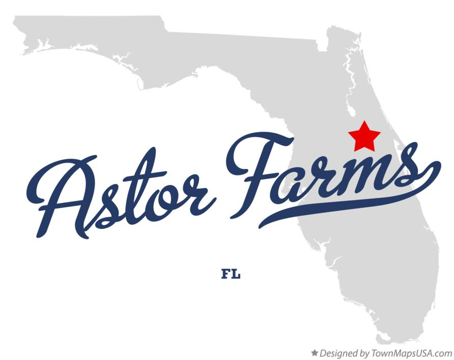 Map of Astor Farms Florida FL
