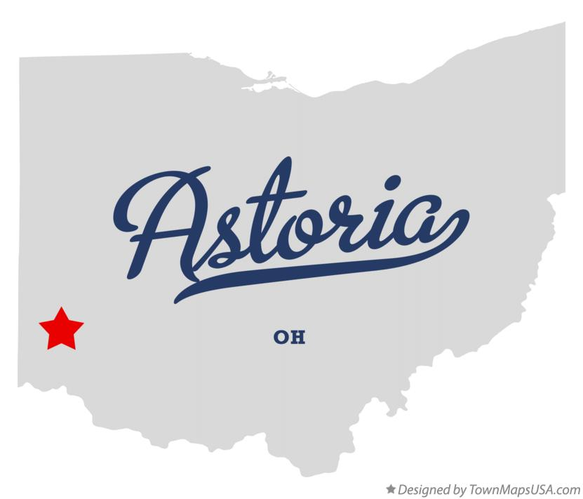 Map of Astoria Ohio OH