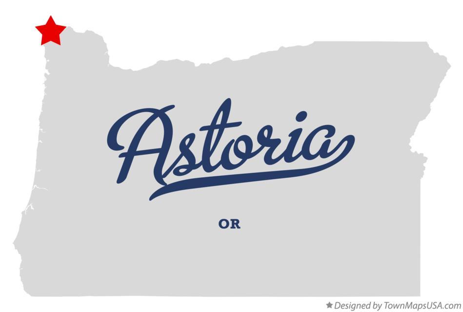 Map Of Astoria Or Oregon