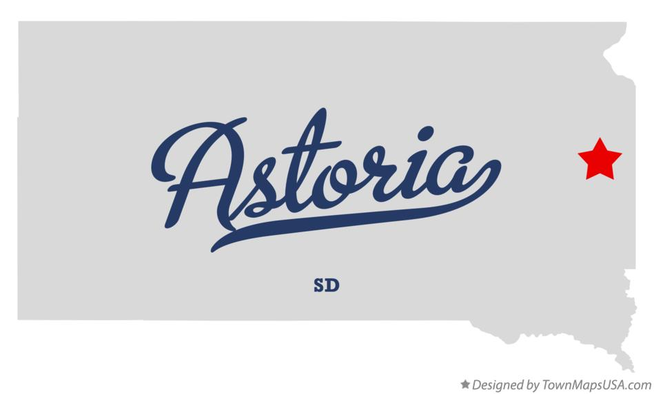 Map of Astoria South Dakota SD