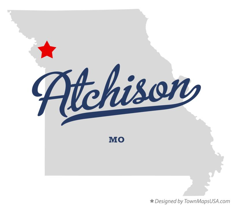 Map of Atchison Missouri MO