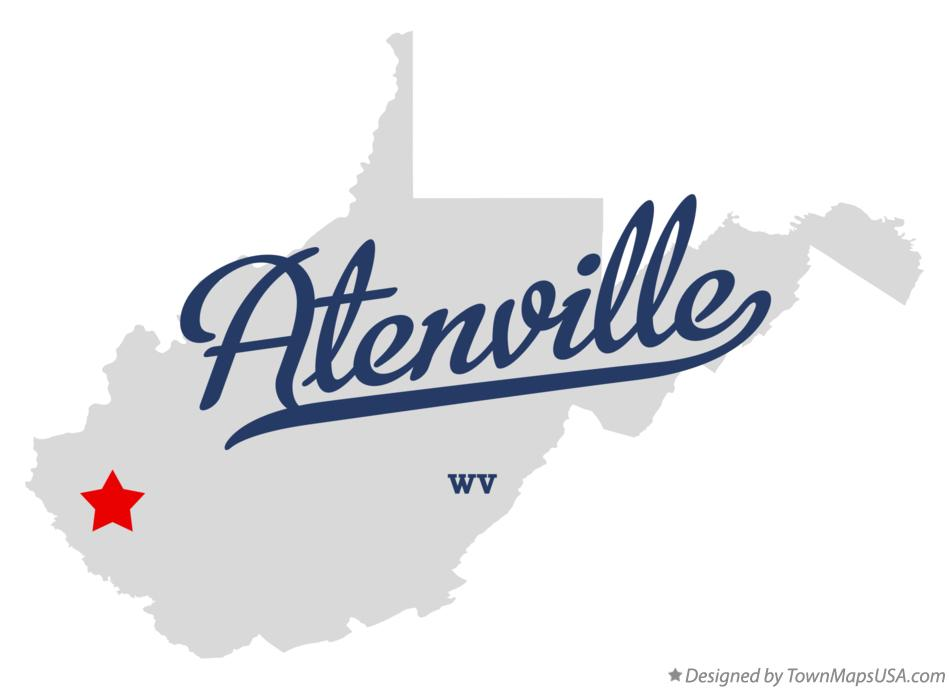 Map of Atenville West Virginia WV