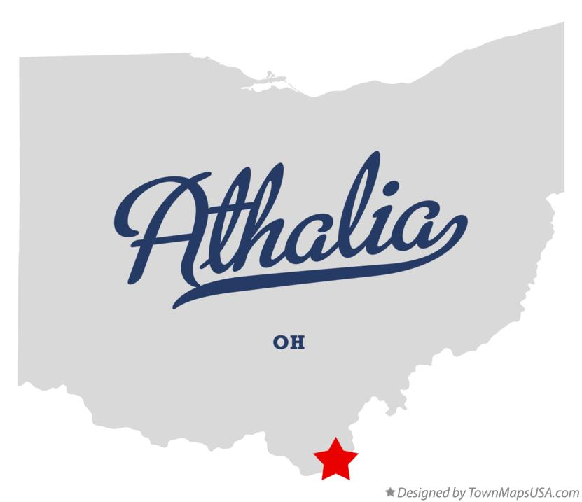 Map of Athalia Ohio OH
