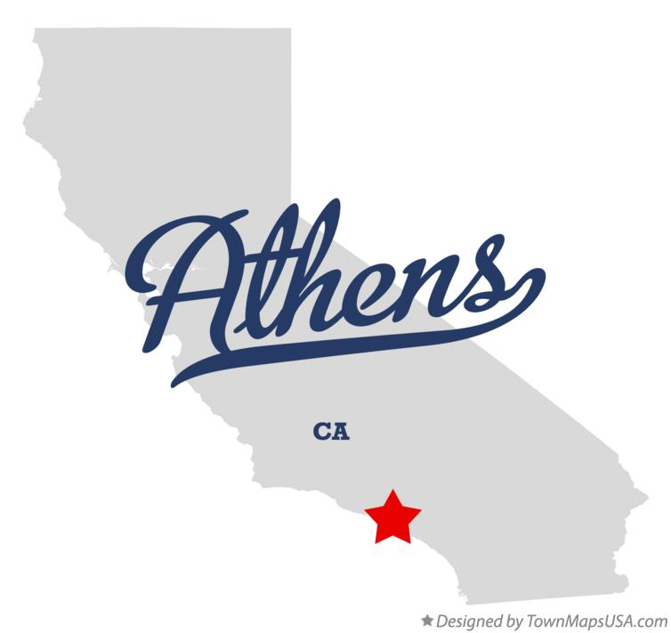 Map of Athens California CA