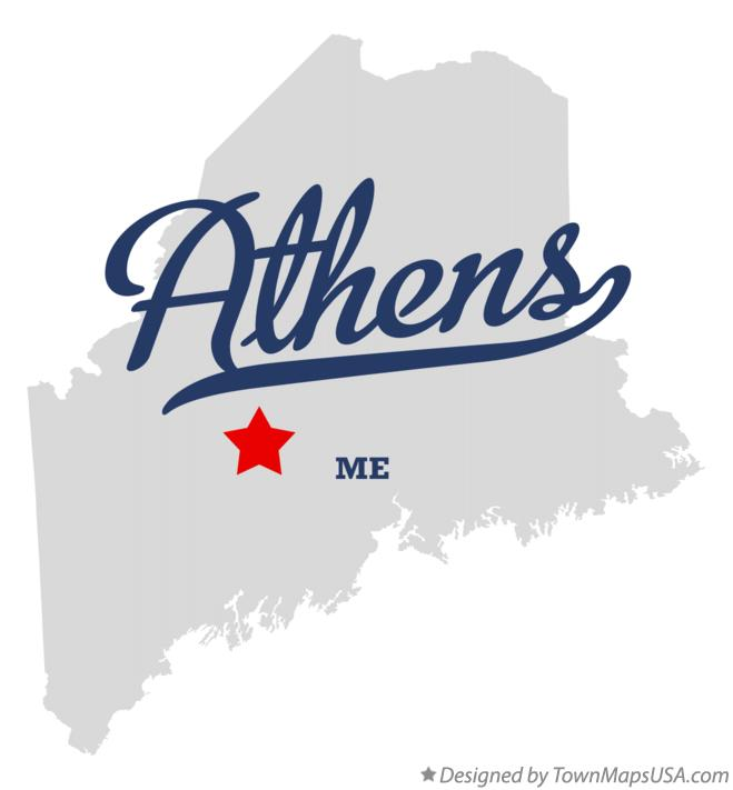 Map of Athens Maine ME