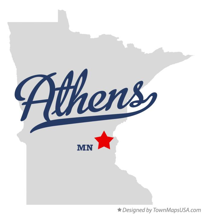 Map of Athens Minnesota MN