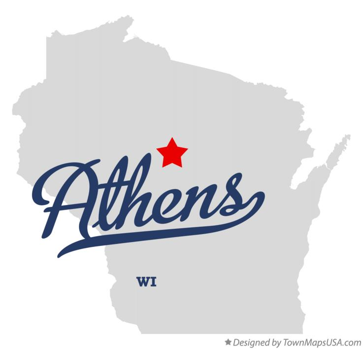 Map of Athens Wisconsin WI