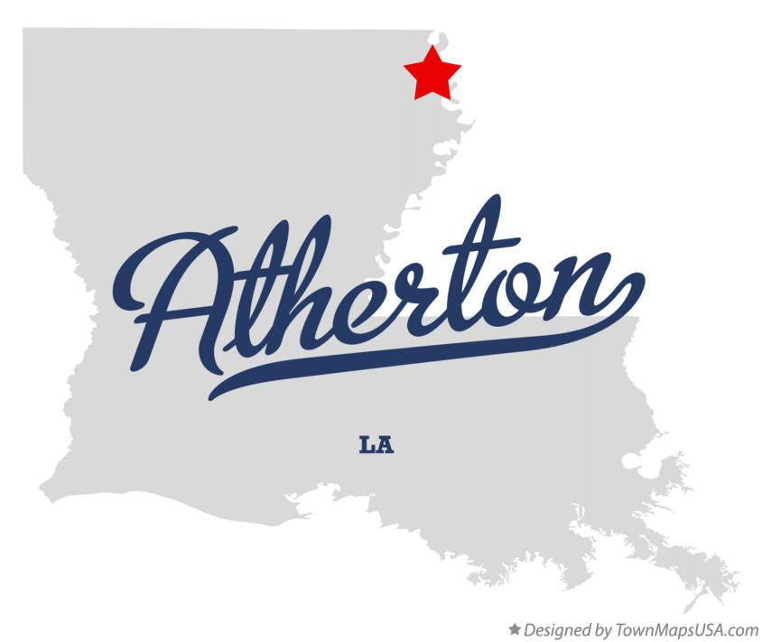 Map of Atherton Louisiana LA