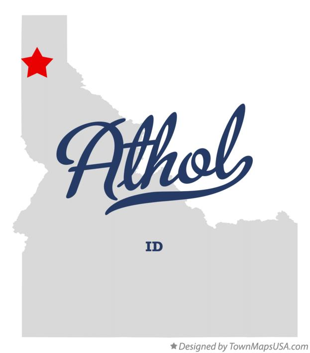 Map of Athol Idaho ID