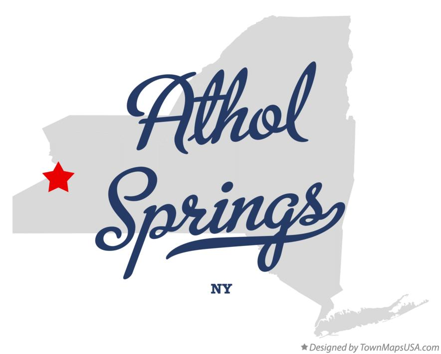 Map of Athol Springs New York NY