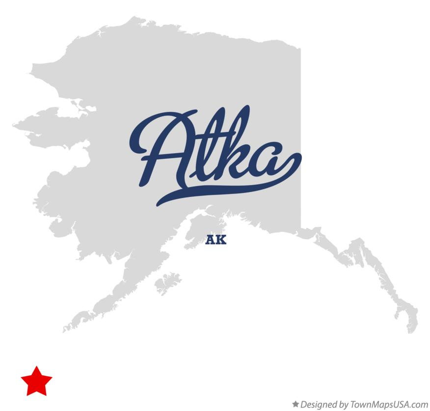 Map of Atka Alaska AK