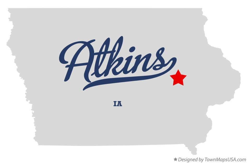 Map of Atkins, IA, Iowa