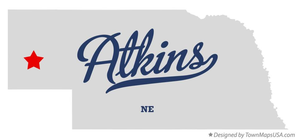 Map of Atkins Nebraska NE