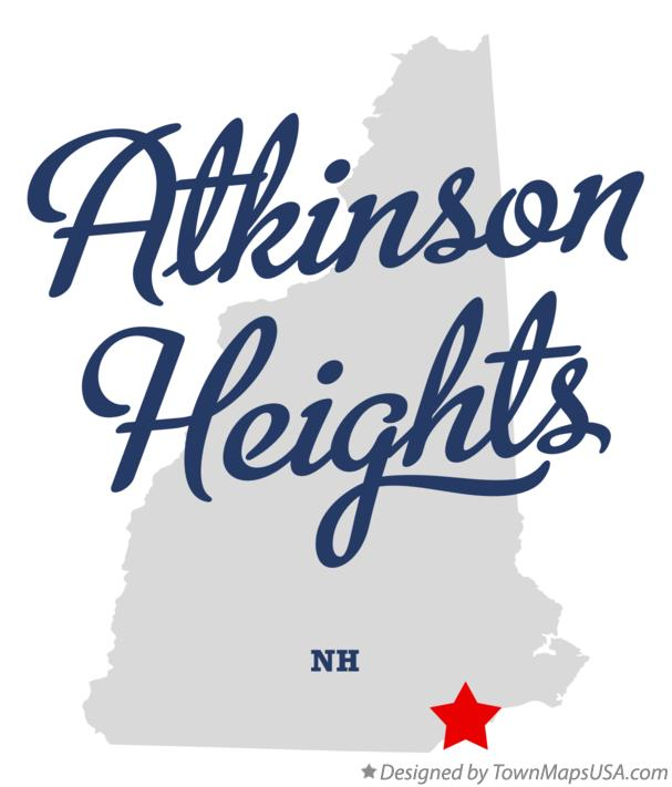 Map of Atkinson Heights New Hampshire NH